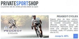 vente privee Peugeot cycles