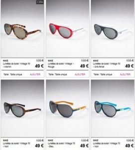 vente privee lunettes soleil NIKE