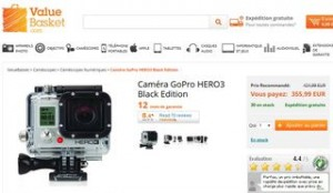 355 euros la Caméra GoPro HERO3 Black Edition (port inclus) – QUANTITE LIMITE