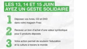 Bon achat FNAC contre un Livre Cd ou DVD - Collecte Nationale Fnac