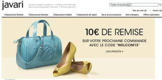 Dernier jour : 10 euros de réductions Javari (sans minimum)