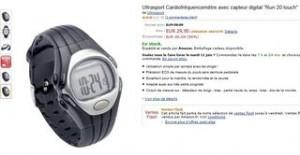 Moins de 30 euros montre cardio-frequencemetre