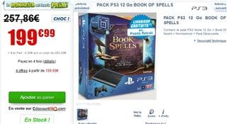 PROMO PS3 BOOK OF SPEELS CDISCOUNT