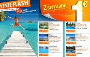 PromoVacances ! La 2ème semaine pour 1 euro (vente flash)