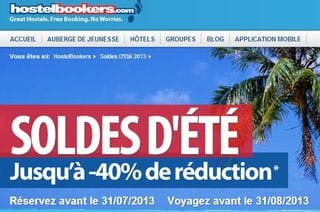Soldes hostelbooker jusqu moins 50 auberges maisons for Soldes hotel