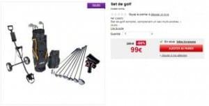 SOLDES KIT DE GOLF COMPLET