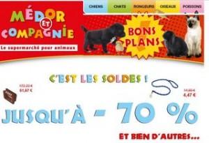 Animalerie soldes de -50 à -70% chez Médor et Compagnie !