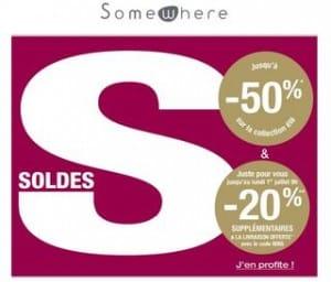 Soldes Somewhere + 20% supplémentaire et livraison gratuite (code promo)