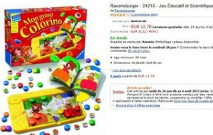 12 euros Jeu Mon Grand Colorino Ravensburger