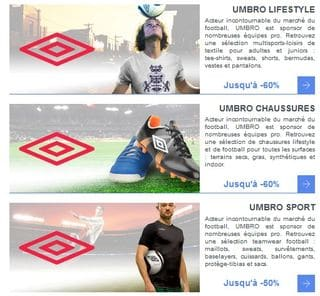 Vente Privée UMBRO