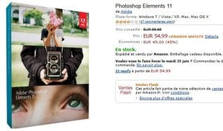 Vente Flash Adobe Photoshop Elements 11