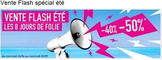 Vente flash Séjours ! De -40% à -50% en juillet et aout