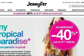 Bon plan Jennyfer : Moins 40% sur le 2éme article