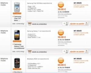 Téléphones portables reconditionnés Orange (garantie 1 an) de 50 à 110 euros d'economies