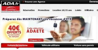 code promo ADA location 40 euros