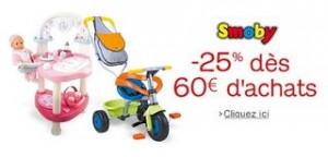 Moins 25% sur jouets Smoby (dès 60 euros – Amazon)