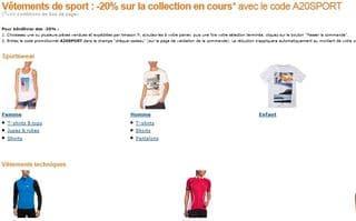 Derniers jours : code promo -20% T-shirts, shorts, vêtements de sport… Amazon