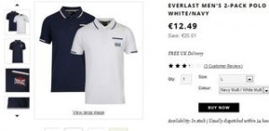 lot polo Everlast moins de 10 euros