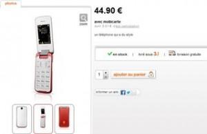 Moins de 45 euros téléphone Alcatel 2010 sans engagement port inclus