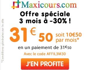 offre 3 mois promo Maxicours