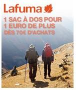 Sac à dos Lafuma pour 1€ dès 70 euros d'achats d'articles Lafuma
