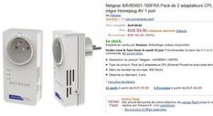 pack de 2 adaptateurs CPL Netgear 500Mbit/s pour moins de 60 euros