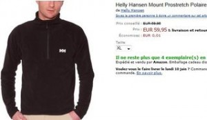 Helly Hansen Mount Prostretch chez Amazon