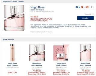 Parfum femme a très bon prix