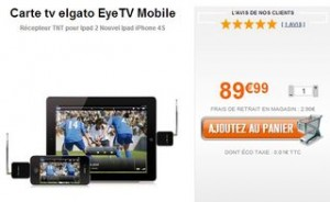recepteur TV TNT Elgato Eye grosbill