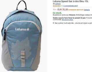 Lafuma  Speed  Sac /à dos   Bleu 15L