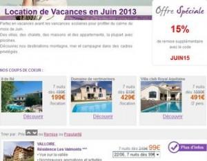 Séjours 7 jours en juin à moins de 95 euros