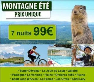 Vente flash ! 99 euros séjours 7 nuits en juin et juillet / France