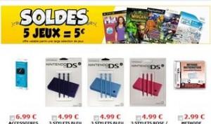 5 jeux vidéo ou accessoires pour 5 euros – CDiscount