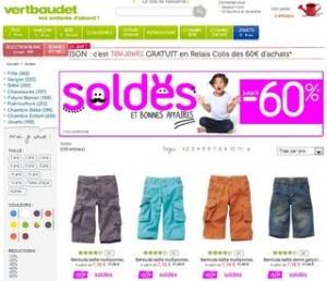 Soldes Vert Baudet : voir les prix des articles en soldes mercredi