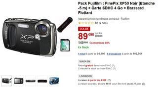 soldes appareil photo etanche FUJI