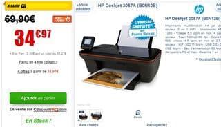 soldes imprimante HP multifonction WI FI 35 euros