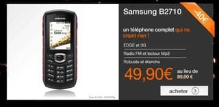 vente flash Samsung B2710