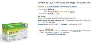 vente flash adaptateurs CPL TP-Link