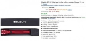 vente flash lampe maglite 25cm coffret