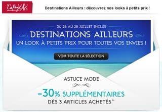 Galeries Lafayette : moins 30% supplémentaires dès 3 articles (plus de 2500 articles en soldes et promos) !