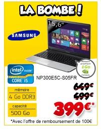 399 euros Ordinateur portable Samsung Intel Core i5