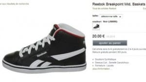 Baskets enfant Reebok Breakpoint Mid 18 euros