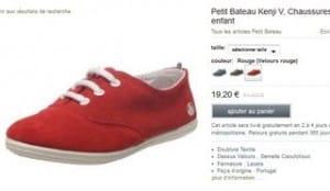 Chaussures Petit Bateau Kenji V velours à seulement 19,20 euros