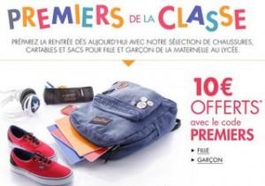 Code promo 10€ de réductions cartables, sacs et chaussures Amazon