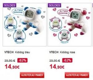 Kididog Vtech en soldes moins de 15 euros