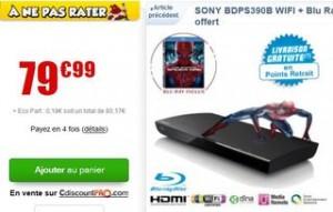 Lecteur Blu-ray Wi-Fi Sony + film Blu Ray à moins de 80 euros