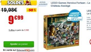 Lego Fortaan Le Château assiégé moins de 10 euros