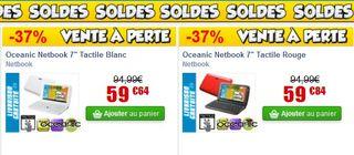 Moins de 60 euros Netbook 7 pouces tactile Android 4.0 Moins de 40 euros tablette tactile 7 Android 4.0 4Go (livraison gratuite)