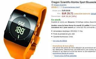 Moins de 30 euros la Montre Sport-Boussole Oregon Scientific (port inclus / au lieu de 60 euros)