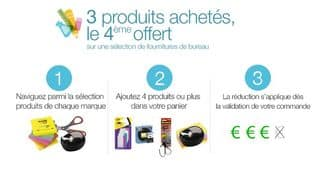 3 articles Scotch, Avery ou Fellowes acheté = le 4eme offert (fournitures de bureau)